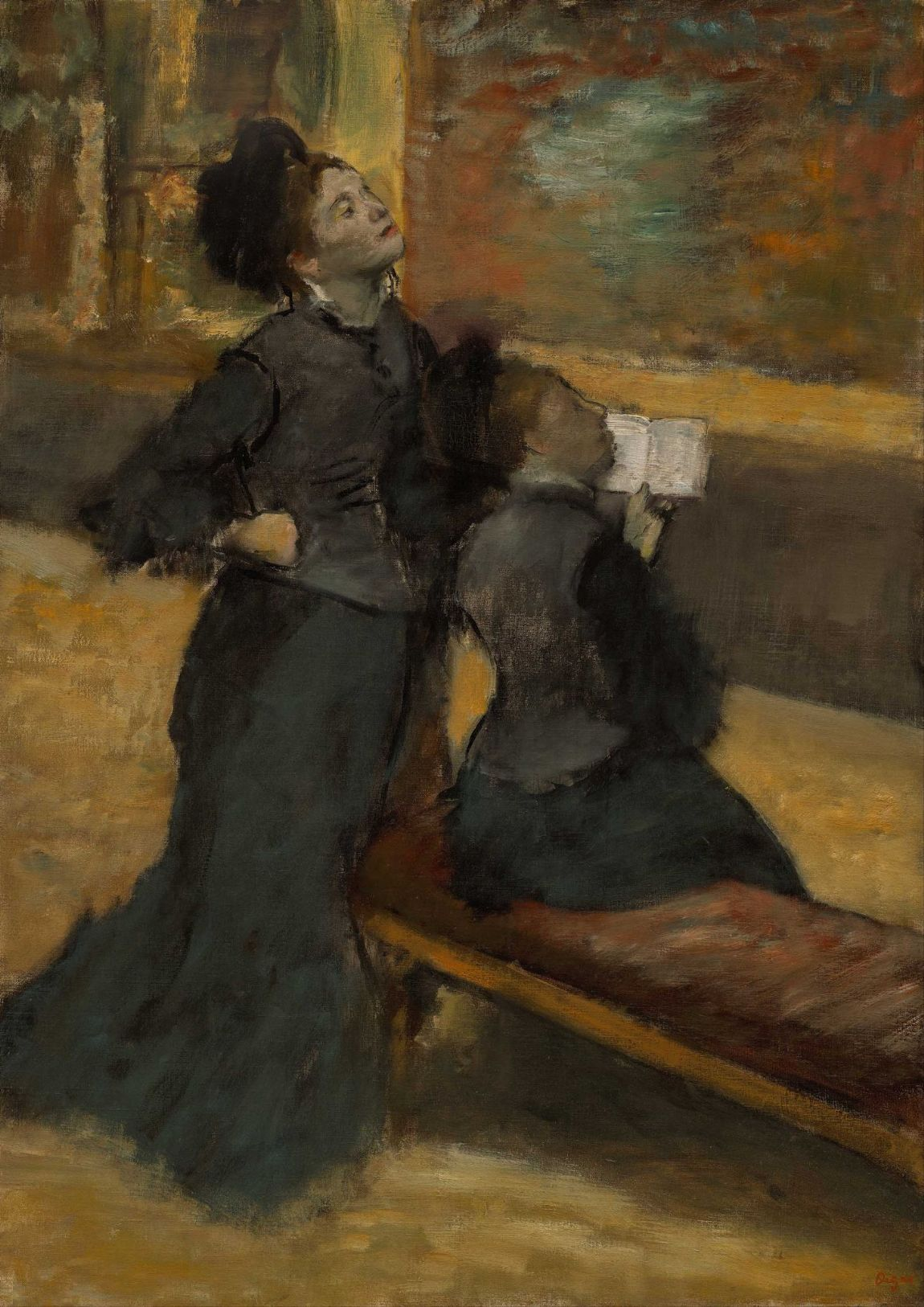 Degas, Edgar: Visit to a Museum. Fine Art Print/Poster. Sizes: A4/A3/A2/A1 (003777)